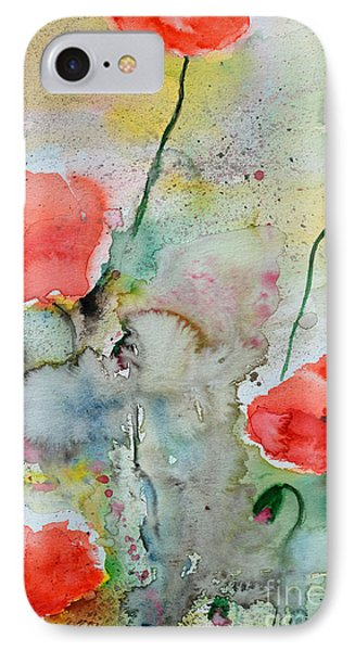 Poppies - Flower Painting Phone Case by Ismeta Gruenwald