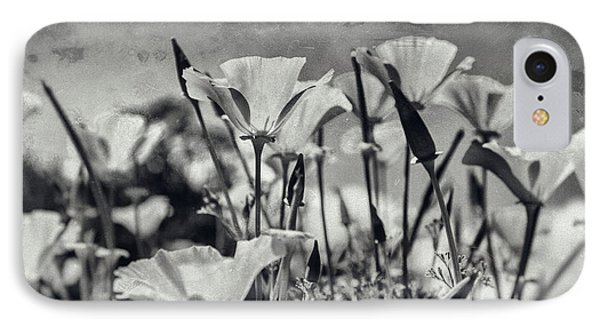 Poppies In Mono IPhone Case by Georgia Fowler