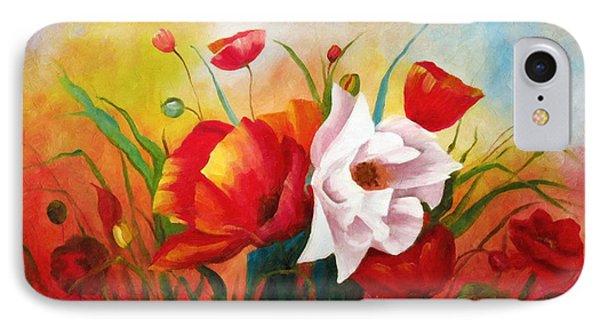 Poppies In My Garden IPhone Case by Georgiana Romanovna