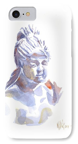 Porcelain Maiden In Watercolor Phone Case by Kip DeVore