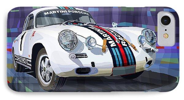 Porsche 356 Martini Racing IPhone Case by Yuriy Shevchuk