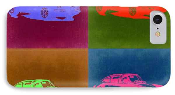 Porsche 911 Pop Art 3 IPhone Case by Naxart Studio