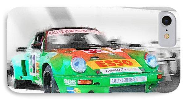 Porsche 911 Turbo Watercolor IPhone Case by Naxart Studio