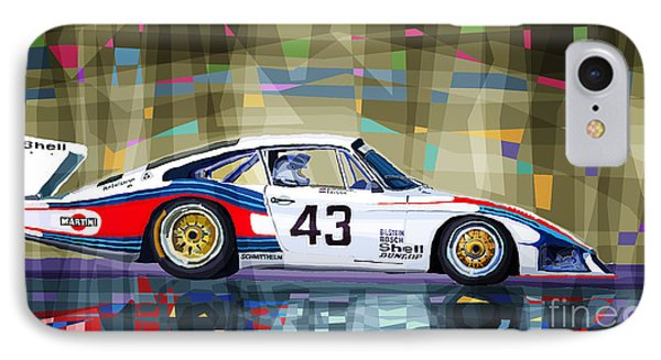 Porsche 935 Coupe Moby Dick IPhone Case by Yuriy  Shevchuk