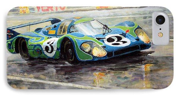 Porsche Psychedelic 917lh  1970  Le Mans 24  IPhone Case by Yuriy Shevchuk