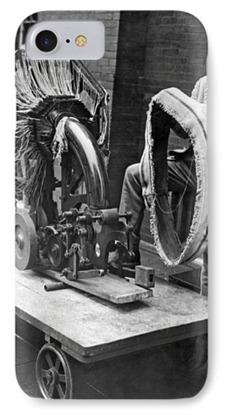 Portable Tire Making Device IPhone Case by Underwood Archives