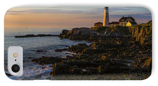 Portland Head Lighthouse At Dawn IPhone Case by Diane Diederich