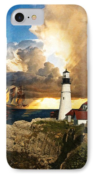 Portland Head Lighthouse IPhone Case by Lianne Schneider