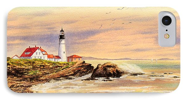 Portland Head Lighthouse Maine IPhone Case by Bill Holkham