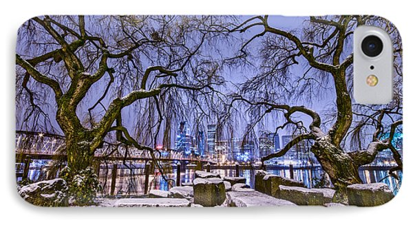 Portland Twin Trees IPhone Case by Darren  White