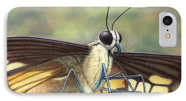 Portrait Of A Butterfly IPhone Case by James W Johnson
