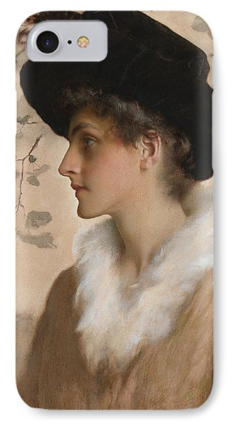 Portrait Of A Lady 1888 Phone Case by George Henry Boughton