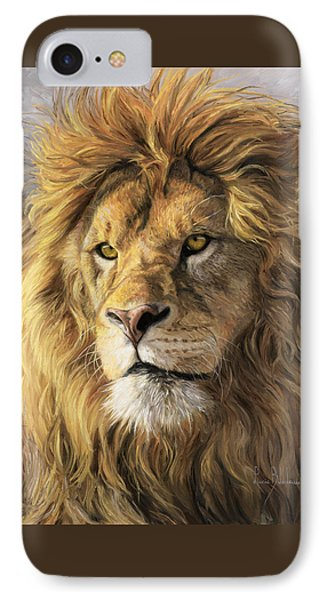 Portrait Of A Lion IPhone Case by Lucie Bilodeau