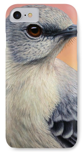 Portrait Of A Mockingbird Phone Case by James W Johnson