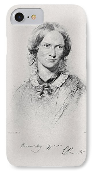 Portrait Of Charlotte Bronte, Engraved IPhone Case by George Richmond