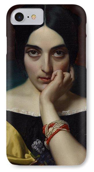 Portrait Of Clementine IPhone Case by Henri Lehmann