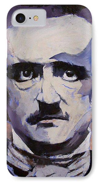 Edgar Allan Poe IPhone 7 Case by Michael Creese