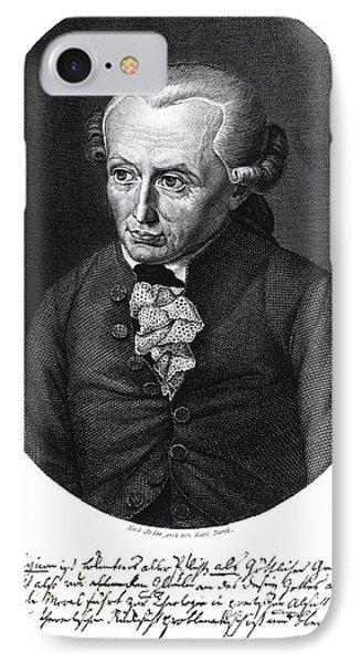 Portrait Of Emmanuel Kant  Phone Case by German School