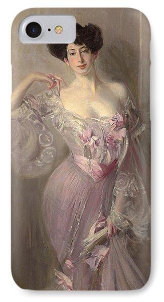 Portrait Of Ena Wertheimer IPhone Case by Giovanni Boldini
