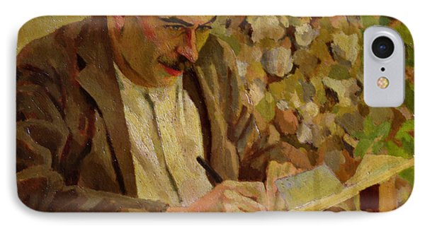 Portrait Of John Maynard Keynes IPhone Case by Roger Eliot Fry