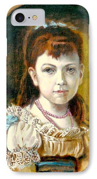 Portrait Of Little Girl Phone Case by Henryk Gorecki