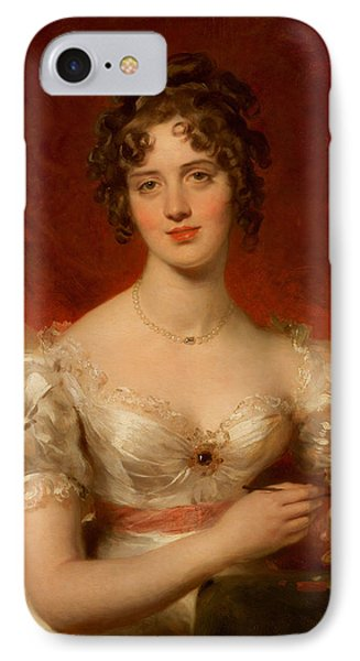 Portrait Of Mary Anne Bloxam IPhone Case by Thomas Lawrence