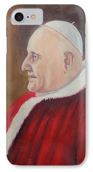 Portrait Of Pope John Xxiii - Papa Giovanni Xxiii IPhone Case by Mario Zampedroni