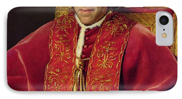 Portrait Of Pope Pius Vii IPhone Case by Jacques Louis David