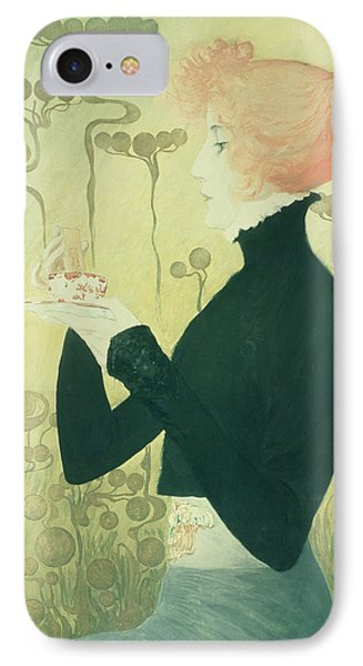 Portrait Of Sarah Bernhardt Phone Case by Manuel Orazi