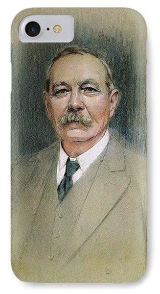 Portrait Of Sir Arthur Conan Doyle  IPhone Case by William Henry Gates