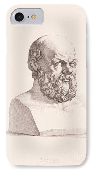 Portrait Of Socrates Phone Case by CC Perkins
