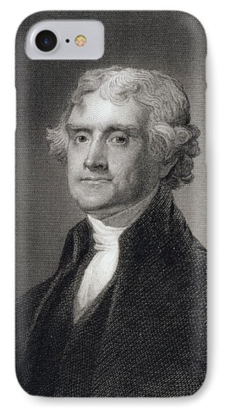 Portrait Of Thomas Jefferson Phone Case by Henry Bryan Hall