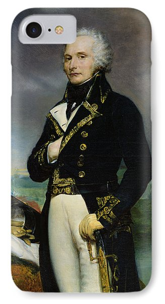 Portrait Of Viscount Alexandre-francois-marie De Beauharnais 1760-94 After A Painting By J. Guerin IPhone Case by Georges Rouget