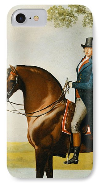 Portrait Of Warren Hastings Small Full Length On His Celebrated Arabian IPhone Case by George Stubbs