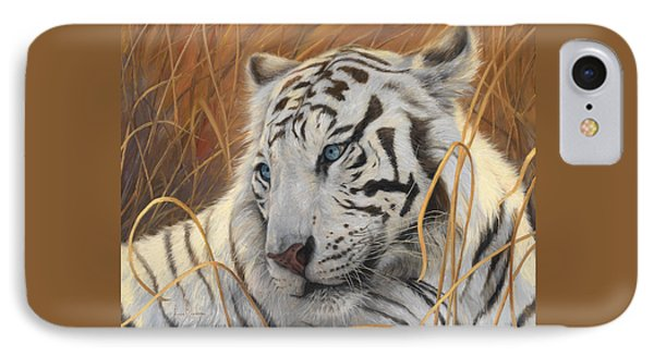 Portrait White Tiger 1 IPhone Case by Lucie Bilodeau