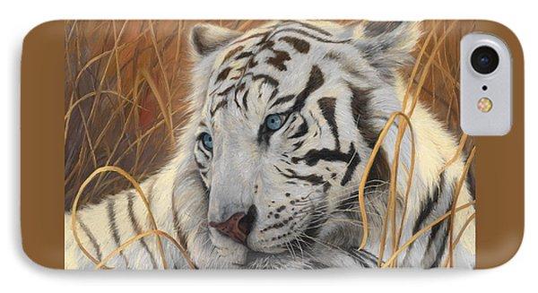 Portrait White Tiger 1 IPhone 7 Case by Lucie Bilodeau