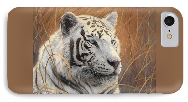 Portrait White Tiger 2 IPhone Case by Lucie Bilodeau