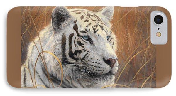 Portrait White Tiger 2 IPhone 7 Case by Lucie Bilodeau