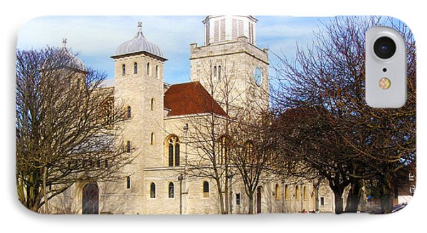 Portsmouth Cathedral At Springtime Phone Case by Terri Waters