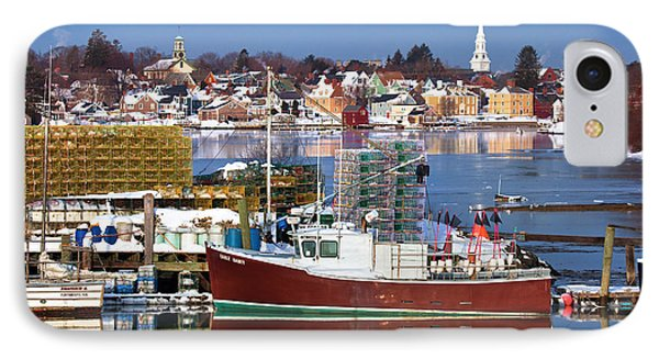 Portsmouth Lobster Boat IPhone Case by Eric Gendron