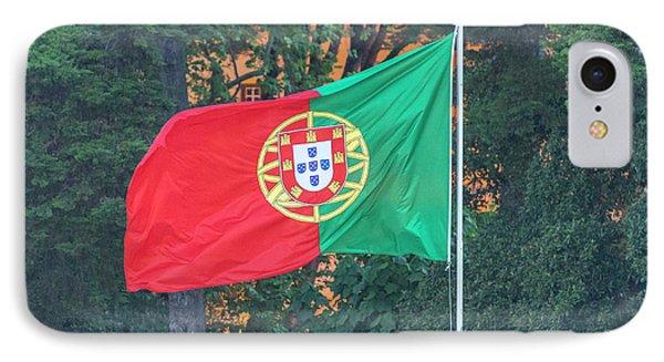 Portugal, Cascais, Portuguese Flag IPhone Case by Jim Engelbrecht