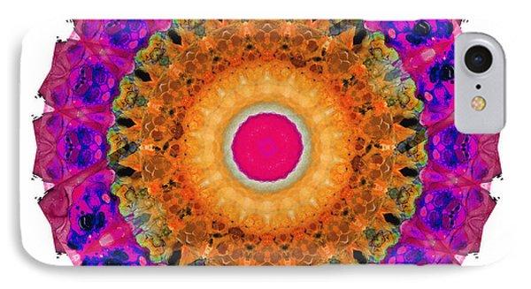 Positive Energy 2 - Mandala Art By Sharon Cummings IPhone Case by Sharon Cummings