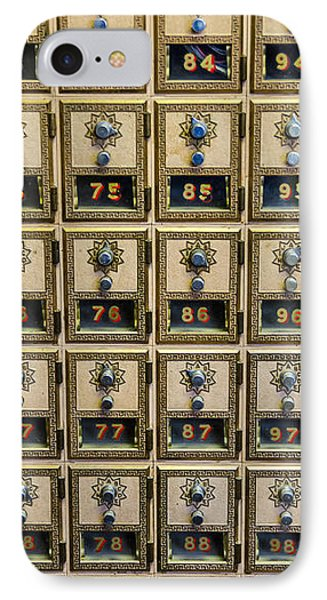 Post Office Combination Lock Boxes Phone Case by Sue Smith