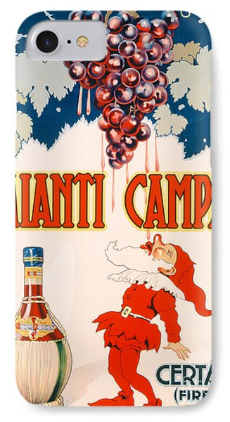 Poster Advertising Chianti Campani Phone Case by Necchi