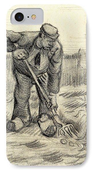 Potato Gatherer IPhone Case by Vincent Van Gogh
