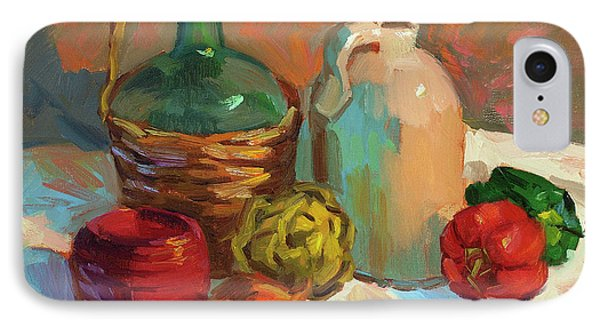 Pottery And Vegetables IPhone Case by Diane McClary