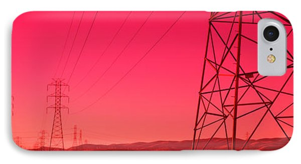 Power Lines In The Valley, Central IPhone Case by Panoramic Images