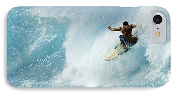 Surfing Power Struggle IPhone Case by Bob Christopher