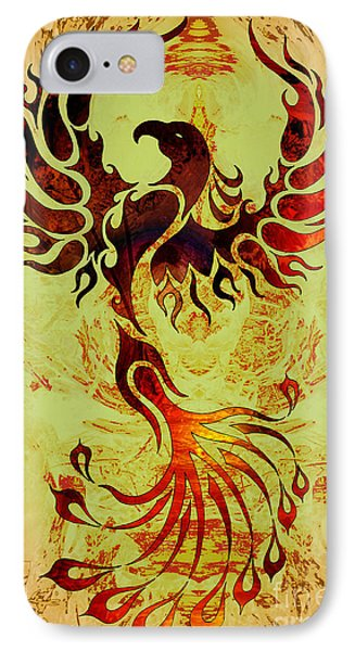 Powerful Phoenix IPhone Case by Robert Ball