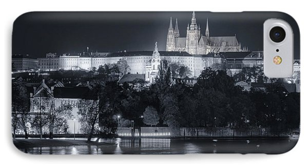 Prague Castle At Night Phone Case by Joan Carroll